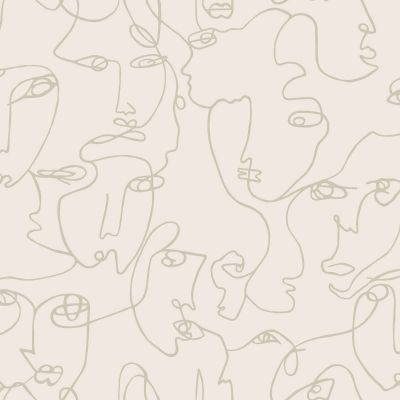 Abstract Faces Wallpaper Neutral Holden 12992