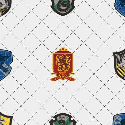 Harry Potter House Pride Wallpaper White / Multi Graham & Brown 108699