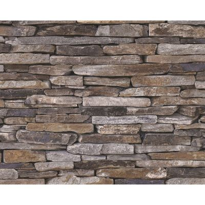 Natural Stone Slate Effect Wallpaper
