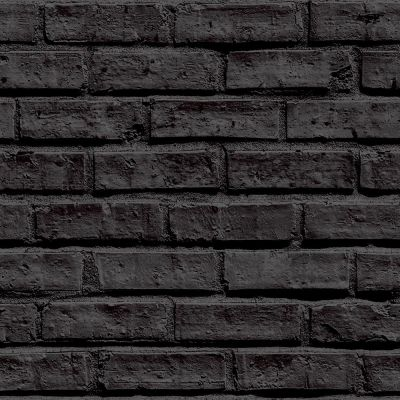 Arthouse Black Brick Wallpaper