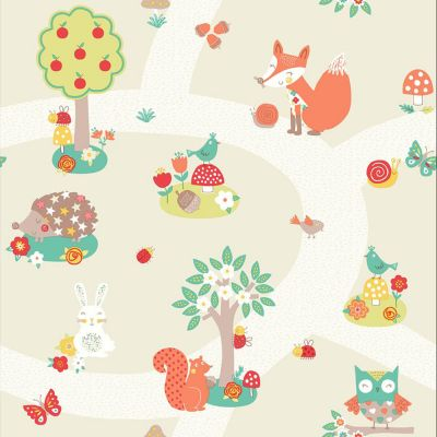 Forest Friends Wallpaper - Neutral - 667201