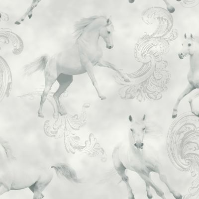 Camarillo Horse Wallpaper - Grey - Arthouse 667300
