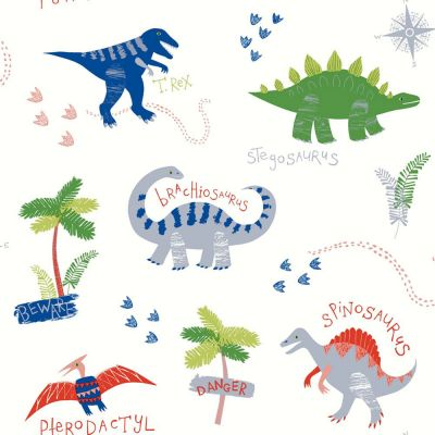 Dino Doodles Wallpaper - Multi - Arthouse 667500