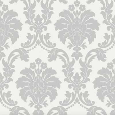 Romeo Damask Wallpaper - Grey - Arthouse 673503