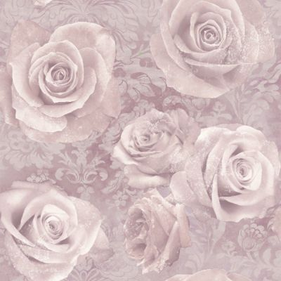 Reverie Rose Wallpaper Blush Arthouse 623302