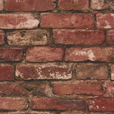Red Brick Effect Wallpaper - Fine Decor