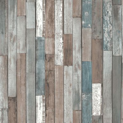 Wood Planks Wallpaper - Blue - FD40888 | Decor | Feature