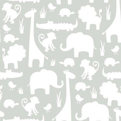 NuWallpaper Its A Jungle In Here Peel And Stick Wallpaper - Grey NU1393