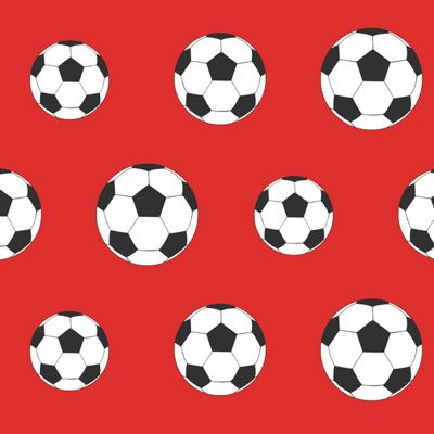 Goal Football Wallpaper - Red | Bedroom