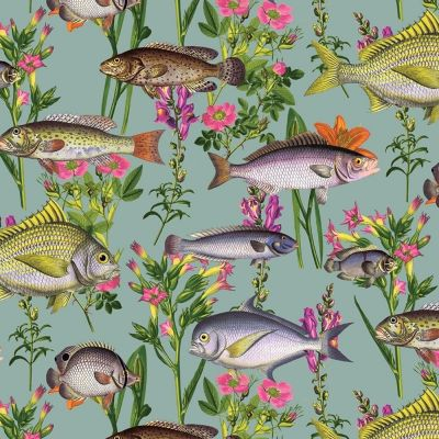 Holden Lagoon Fish Wallpaper - Teal 12171 | Feature