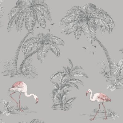 Holden Flamingo Lake Wallpaper - Grey 12381 | Feature | Decor