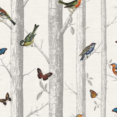 Holden Epping Birds on Branches Wallpaper - White 12231 | Feature