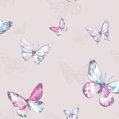 Holden Amelia Butterflies Wallpaper - Heather / Pink 98870 | Feature | Decor