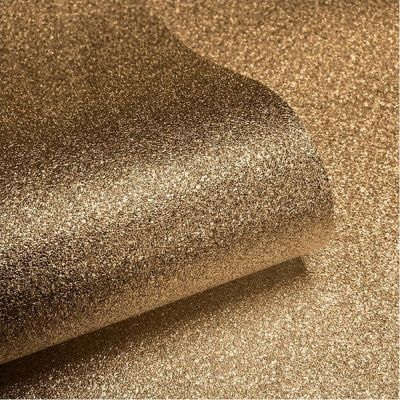 Textured Sparkle Glitter Effect Wallpaper  - Gold - 701354 Muriva
