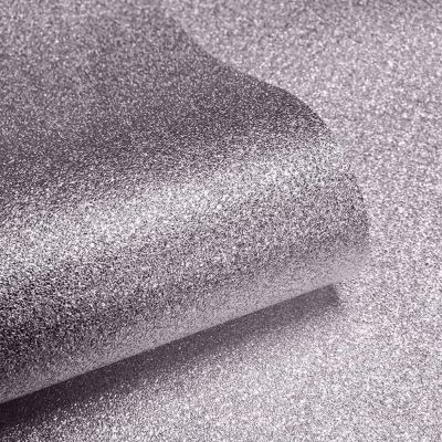 Textured Sparkle Glitter Effect Wallpaper - Mink - 701357 Muriva