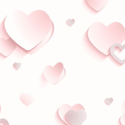 3D Hearts Glitter Wallpaper - Pink - J92603 | Decor | Feature