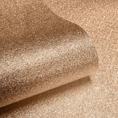 Textured Sparkle Glitter Effect Wallpaper - Copper - 701374 Muriva