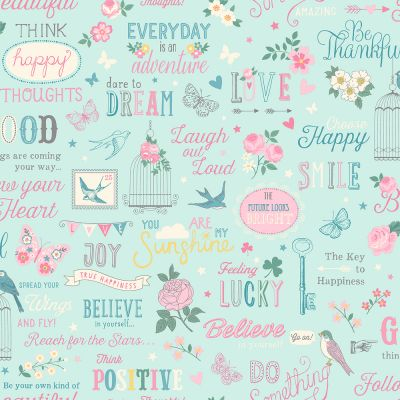 Rasch Inspirations Wallpaper - Teal and Pink 216714