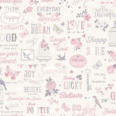 Rasch Inspirations Wallpaper - White and Pink 216707