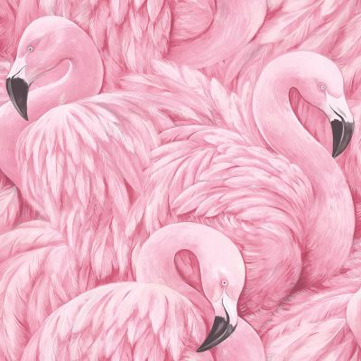 Flamingo Wallpaper Pink Rasch 277890 | Feature | Decor