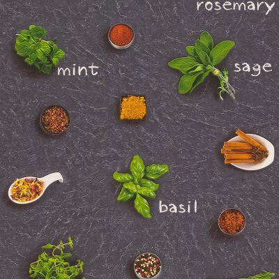 Herbs and Spices Wallpaper Rasch 307108 | Feature