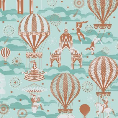 Pleasure Gardens Wallpaper Pale Verdigris Mini Moderns AZDPT042PV
