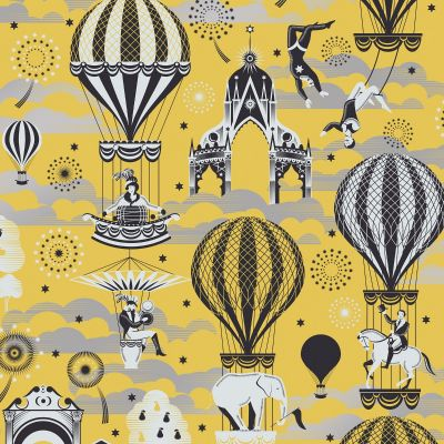 Pleasure Gardens Wallpaper Mustard and Silver Mini Moderns AZDPT042MU