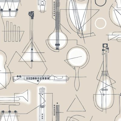 Concert Wallpaper Stone Mini Moderns AZDPT039ST