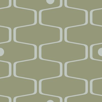 Net & Ball Wallpaper Olive Mini Moderns AZDPT038OL