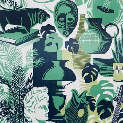 Art Room Wallpaper Coach Emerald Mini Moderns AZDPT032CE
