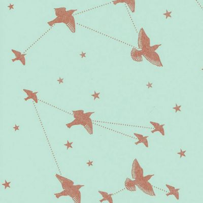 Star-ling Wallpaper Pale Verdigris and Copper Mini Moderns AZDPT029PV
