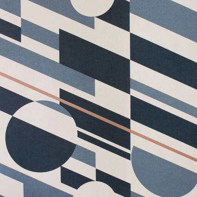 P.L.U.T.O. Wallpaper Washed Denim & Copper Mini Moderns AZDPT027WD