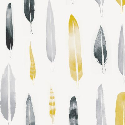 Feathers Wallpaper Mustard Mini Moderns AZDPT024MU