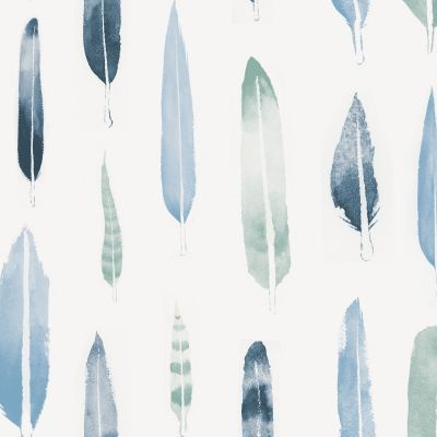 Feathers Wallpaper Chalkhill Blue Mini Moderns AZDPT024CB