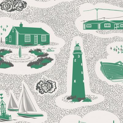 Dungeness Wallpaper Coach Emerald Mini Moderns AZDPT023CE