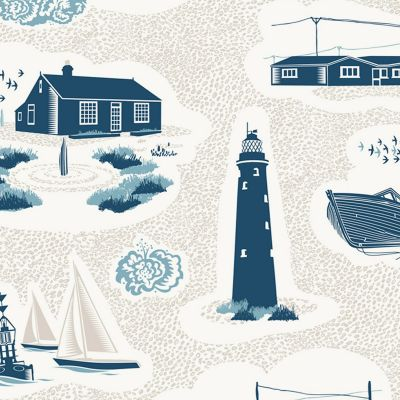 Dungeness Wallpaper Washed Denim Mini Moderns AZDPT023WD