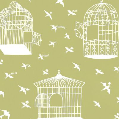Our Adventure is About to Begin Wallpaper Afternoon Green Mini Moderns RRMM01AG