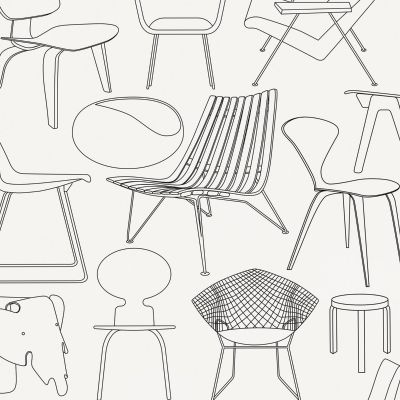 Sitting Comfortably Wallpaper Snow Mini Moderns AZDPT007SN
