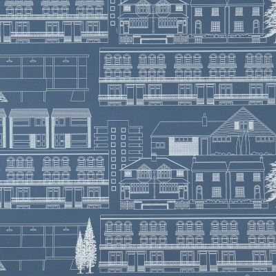 Do You Live in a Town? Wallpaper Blueprint Mini Moderns AZDPT001BP