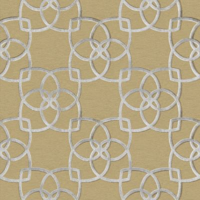 Marrakech Geometric Wallpaper Silver and Gold Muriva 701371