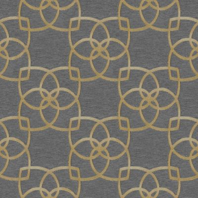 Marrakech Geometric Wallpaper Gold and Grey Muriva 601537