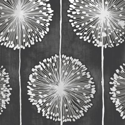 Dandelion Wallpaper Black Muriva J04219
