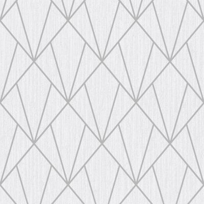 Pulse Diamond Wallpaper Silver / Grey Fine Decor FD42340