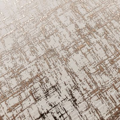 Charice Crosshatch Wallpaper Rose Gold Muriva 702009