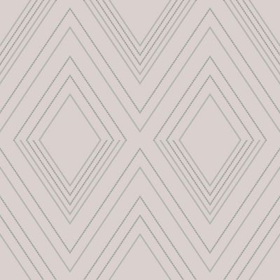 Alea Geometric Wallpaper Blush / Silver Muriva 703041