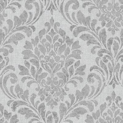 Eleanor Damask Wallpaper Grey Muriva 173511