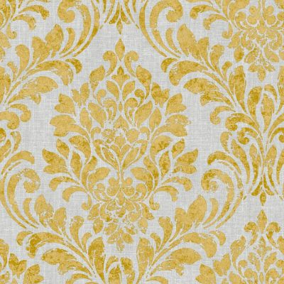 Eleanor Damask Wallpaper Ochre Muriva 173512