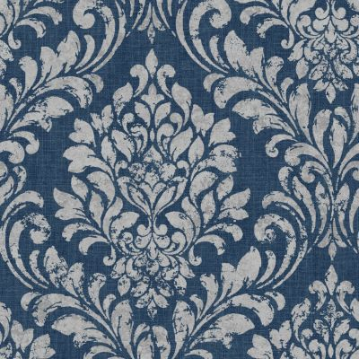 Eleanor Damask Wallpaper Blue Muriva 173513
