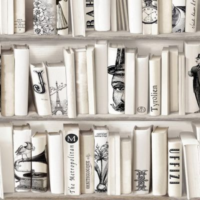 Encyclopedias Wallpaper Cream Muriva 572217