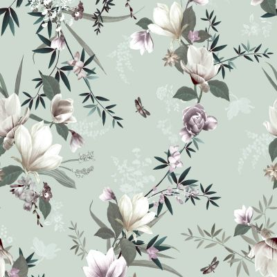 Lipsy Lotus Wallpaper Duck Egg Muriva 144050